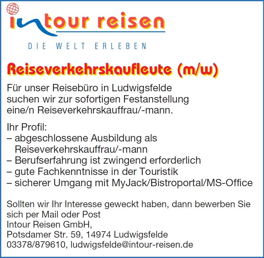 Stellenangebot Reisebüro Ludwigsfelde